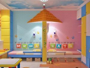 Дизайн детской комнаты для разнополых детей
